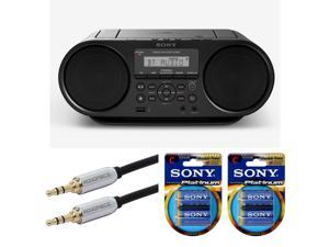 Sony ZSRS60BT CD Boombox with Bluetooth and NFC (Black) Bundle