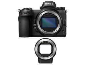 Nikon Z6 Mirrorless Digital Camera with Nikon FTZ Mount Adapter Bundle