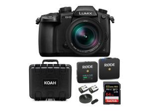 Panasonic Lumix GH5 4K Mirrorless Camera with 12-60mm Lens and Microphone Bundle