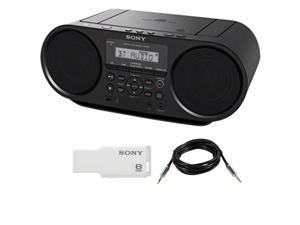 Sony ZSRS60BT CD Boombox with Bluetooth and NFC (Black) , Sony 8GB Micro Vault