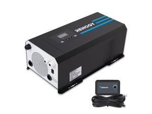 Renogy PCL1-30111S 3000 Watt 12V DC to 120V AC Pure Sine Wave Inverter Charger w/ LCD Display Lithium Battery Compatibility 9000W Surge