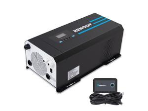 Renogy PCL1-20111S 2000 Watt 12V DC to 120V AC Pure Sine Wave Inverter Charger w/ LCD Display Lithium Battery Compatibility 6000W Surge