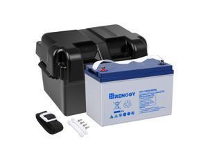 Renogy 12V 100Ah Deep Cycle Hybrid GEL Battery with Battery Box