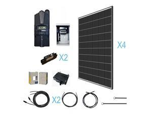 Renogy 1200 Watt 12 Volt Monocrystalline Kit with 4 Pcs of 320W Panel and Midnite MPPT Controller Off-Grid Solar System, 1200W, for Cabin/RV/Boat