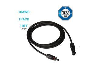 RENOGY 10ft. 10AWG Solar Extension Cable with Female and Male connectors