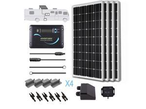 Renogy Solar Panel 400 Watts RV Kit 100W Mono Off Grid 12V Volt Battery Charger