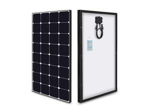 Renogy Eclipse - 100 Watt 12 Volt Monocrystalline Solar Panel High-Efficiency Module Off Grid PV Power for Battery Charging, Boat, Caravan, RV, and Any Other Off-Grid Applications