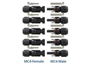 5 pairs Renogy MC4 Male/Female Solar Panel Cable Connectors
