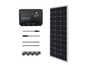 Renogy 100W 12V Monocrystalline Solar Starter Kit, Solar Panel Off-Grid Kit for RV, Boat, and Camping