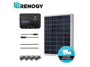Renogy 100 Watts 12 Volts Polycrystalline Solar Starter Kit 100W Solar Panel Off-Grid Kit 100W Solar Kit for RV, Boat, and Camping