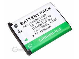 Battery for Olympus LI-40B LI-42B Nikon Coolpix S200 Fuji NP-45 EN-EL10 Stylus 850 710 Finepix Z10FD