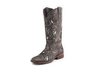 Roper Western Boots Womens Metallic 7.5 B Tan 09-021-0901-0671 TA