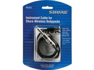 Shure WA302 Instrument Cable for Body-Pack Transmitters, 2'