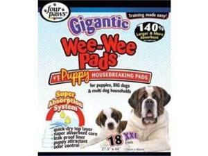 Four Paws Gigantic Wee-Wee Pads, 27.5-Inch by 44-Inch, 18-Pack FP01663 FOUR PAWS PRODUCTS LTD