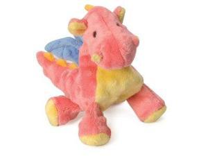 goDog Mini Baby Dragon Dog Toy with Chew Guard, Coral Pink QP770801 QUAKER PET GROUP