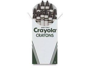 Crayola Regular Crayon Single Color Refill Pack - Black-12 count 52-0836-051