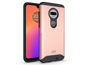 Motorola Moto G7, G7 Plus Case, TUDIA Slim-Fit [Merge] Extreme Protection/Rugged but Premium Dual Layer Precise Cutouts Phone Case for Motorola Moto G7, G7 Plus (Rose Gold)