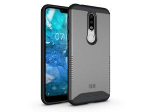 Nokia 7.1 Case, TUDIA Slim-Fit [Merge] Extreme Protection/Rugged but Premium Dual Layer Precise Cutouts Phone Case for Nokia 7.1 (2018) [Not Compatible with Nokia 6.1] (Metallic Slate)
