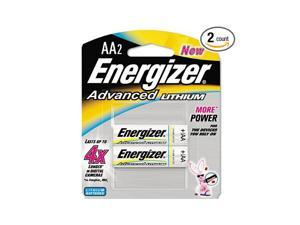 Energizer : Advanced Lithium Batteries , Aa , 2/Pack -:- Sold As 2 Packs Of - 2 - / - Total Of 4 Each -
