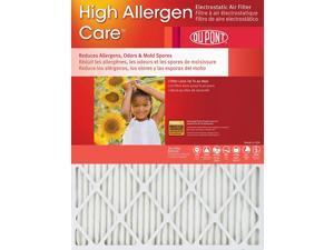 16x25x1 DuPont High Allergen Care Electrostatic Air Filter (4 Pack)