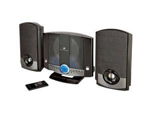 HM-3817DTBLK Home Music System with Auxillary Input