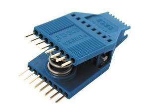 Pomona 5250 Test Clip SOIC Clip 8 Pins Low-profile fine-pitch chips, Densely populated boards, or vertical boards,  IC Test Clip, SOJ, SOIC, 8 Contacts, 1.27 mm, Gold Plated Contacts