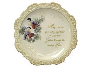 Elegant Ceramic Decorative Plate 'May Friends You Love'