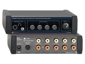 EZ Series Stereo Audio Input Switch w/ RCA,3.5mm, & 1/4 headphone output