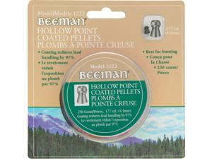 Beeman 1222 Hollow Point Coated Pellets .177 Cal 4.5mm Coating Reduces Lead