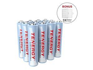Tenergy AAA 1000mAh High Capacity NiMH Rechargeable Batteries, 12-Pack