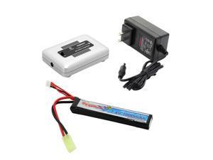 Tenergy TN267 1-4 Cells Li-PO/Li-Fe Balance Charger + Tenergy 7.4V 1000mAh Li-Po Airsoft Stick Battery Pack