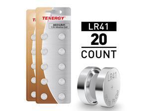 Tenergy 20pcs LR41 / AG3 1.5V Alkaline Button Cells