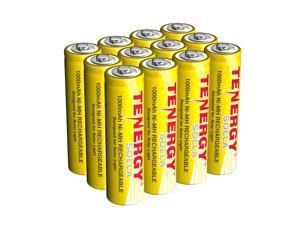 Tenergy Solla Rechargeable NiMH AA Battery, 1000mAh Solar Batteries for Solar Garden Lights, Anti-Leak, Outdoor Durability, 5+ Years Performance, 12 PCS, UL Certified