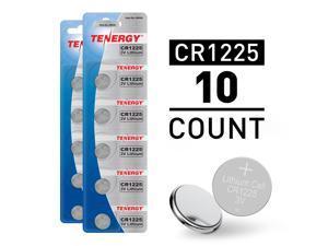 Tenergy 10pcs CR1225 3V Alkaline Button Cells