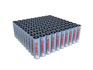 Combo: 100 pcs Tenergy AA 2600mAh NiMH Rechargeable Batteries