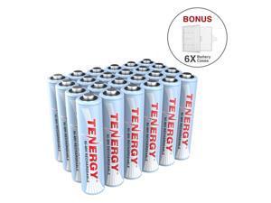 Tenergy AAA Rechargeable Battery, High Capacity 1000mAh NiMH AAA Battery, 1.2V Triple A Batteries 24-Pack, Bonus 6 Battery Cases