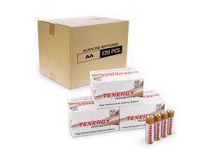 Combo: 120pcs Tenergy AA Size (LR6) Alkaline Batteries