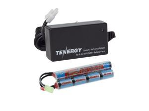 Tenergy 9.6V NiMH Airsoft Battery 1600mAh Butterfly Battery Pack with Mini Tamiya Connector for M4, M110, SR25, M249, M240B, G36, M14, RPK, PKM, L85, AUG, G3