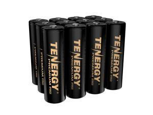 Tenergy Premium PRO Rechargeable AA Batteries, High Capacity 2800mAh NiMH AA Battery, 12 Pack Rechargeable Batteries
