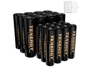 Tenergy Premium PRO Rechargeable AA and AAA Batteries, High Capacity NiMH 2800mAh AA 1100mAh NiMH AAA Batteries, 24 Pack 12AA and 12AAA Rechargeable Batteries