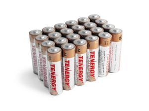 1 Box: 24pcs Tenergy AA Size (LR6) Alkaline Batteries