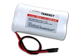 Tenergy Li-Ion 18650 7.4V 2200mAh Rechargeable Battery Module w/ PCB Protection