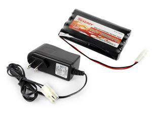 Combo: Tenergy 9.6V 2000mAh NiMH Battery Pack + 12V 300mA Pack Charger for 6.0V-9.6V Battery Packs