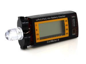 Tenergy Compact Cell Meter - LiPo Alarm and Digital Battery Checker for LiPo/ LiFePO4 / Li-ion/ NiMh/ NiCd Battery Packs