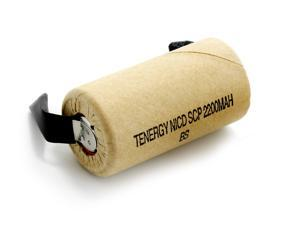 Tenergy Sub C 1.2V 2200mAh NiCd Paper Wrapped Rechargeable Battery for Power Tools (w/ Tabs)