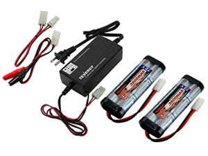 Combo: Universal Smart Charger: 6v - 12v #01025 (Version 2) + 2 pcs Tenergy 7.2V NiMH 3800mAh Battery Packs