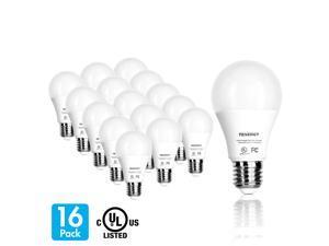 Tenergy LED Light Bulbs 9W (60 Watt Equivalent), 5000K Daylight White, E26 Medium Base, 16-Pack