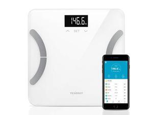 Tenergy Vitalis Weight Scale, Bluetooth Connected APP Scale, High Precision BMI Scale with Large Easy Read Backlit LCD, Body Scale, Max Weight 400 pounds (iOS/Android)