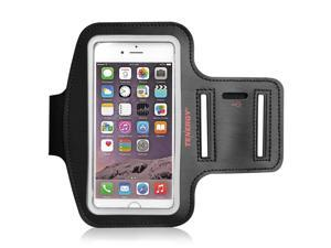 Tenergy 5.8 Inch Armband for iPhone 8 plus 7 plus 6S plus 6 plus, Galaxy S8 plus S7 plus S6 plus, Multi-slot Adjustable Velcro Water Resistant Sports Armband for Running, Gym, Bonus Screen Protector