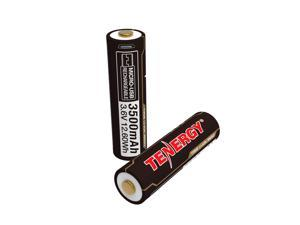 Tenergy T35B 3500mAh 3.6V 18650 Battery, USB Rechargeable Lithium Ion Battery, High Capacity Button Top Battery, for 18650 Flashlight with Safety Control Circuit (2-Pack)